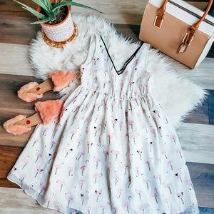 Thyme maternity flamingo dress 🦩